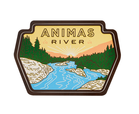Animas River Sticker