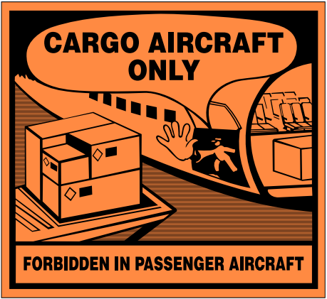 Cargo Aircraft Only Label