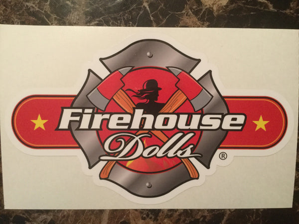 Firehouse Dolls Window Decal (US Shipping & Handling INCLUDED)