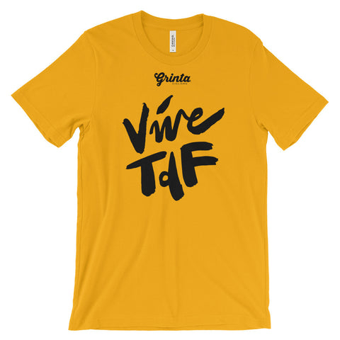 Vive TDF, Black Brush Script Shirt