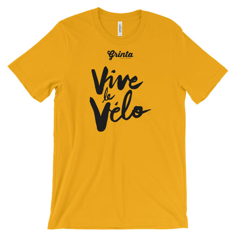 Vive Le Velo, Black Brush Script Shirt