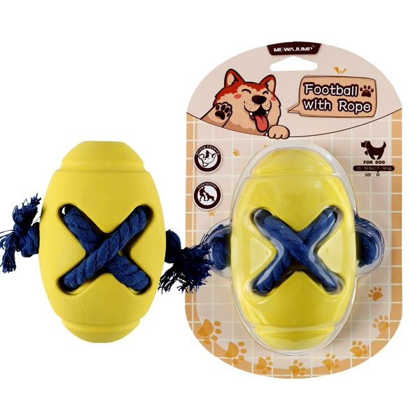 Barrel Treat Dog Toy- Yellow