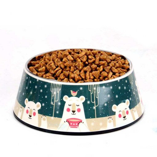 dog bowl on stand