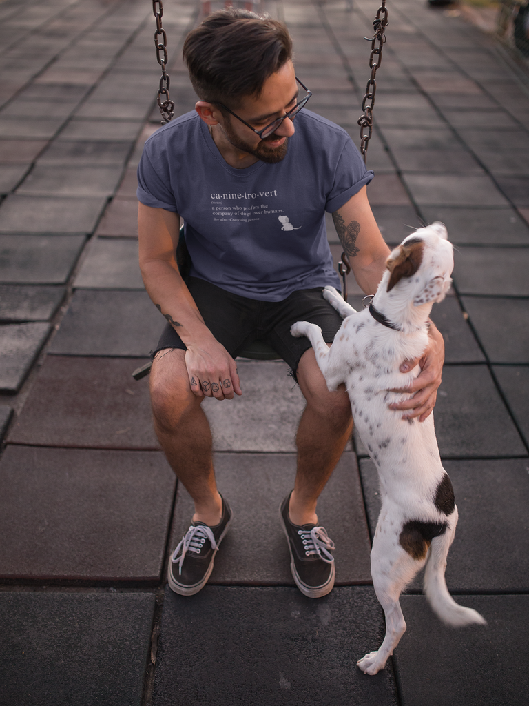 caninetrovert grey tshirt for pet owners