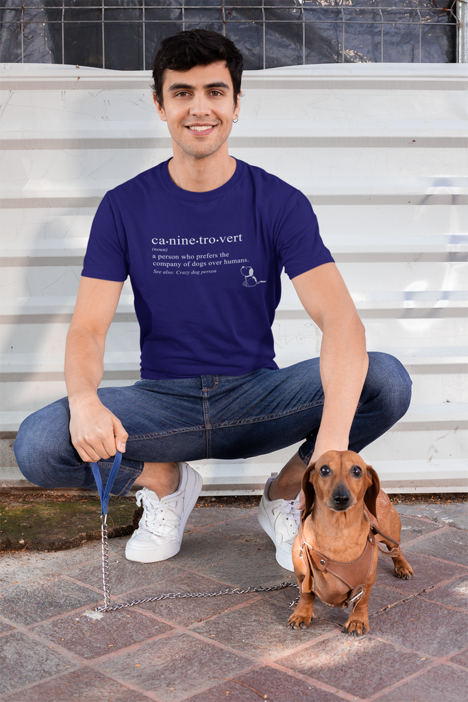 caninetrovert tshirt for pet owners