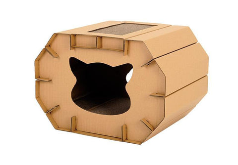 Cardboard Corrugated Nest Scratcher House