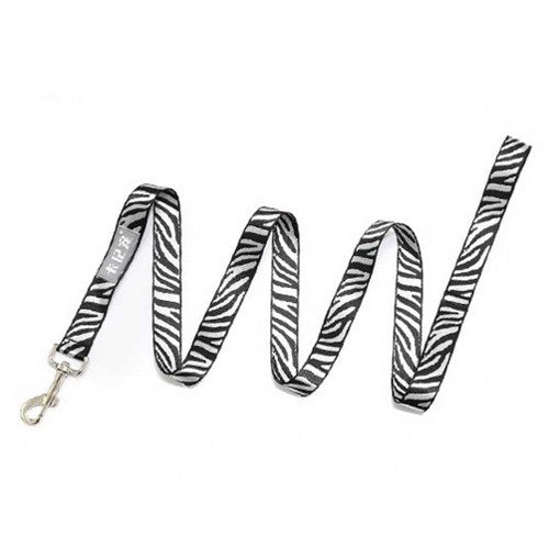 Zebra Pattern Adjustable Dog Collar & Leash Set