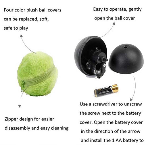 Magic Roller Electronic Dog Ball