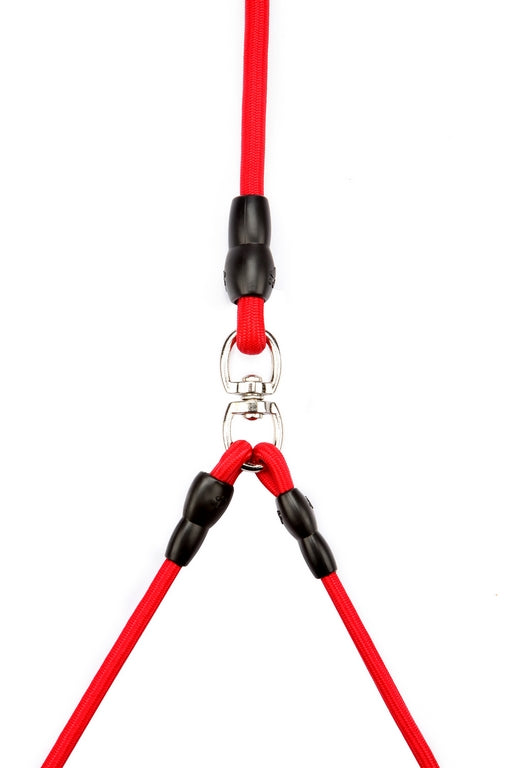 Dual leash Red