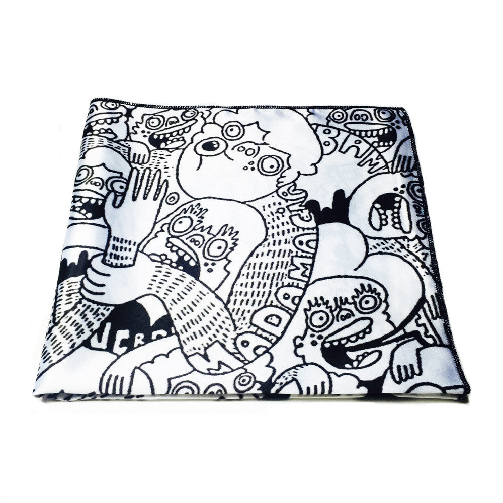 Black & White Chaos by Lauren Asta - Pocket Square
