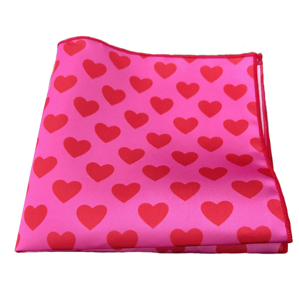 Hearts - Pocket Square