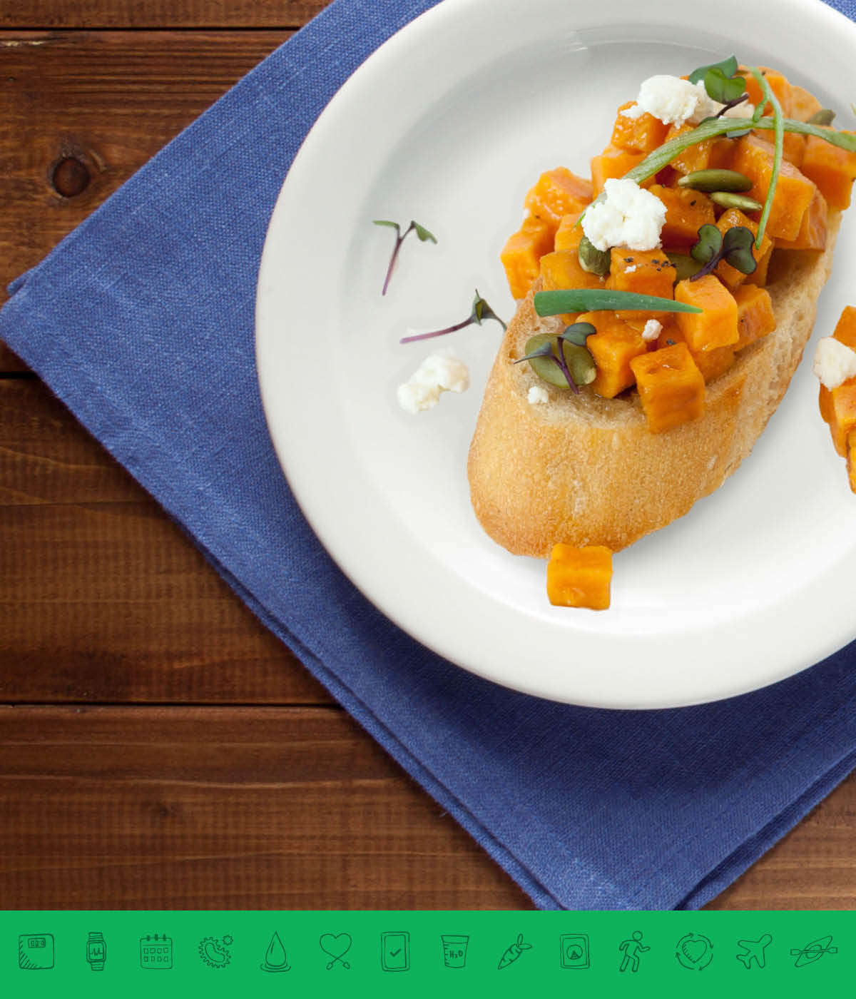 MSPrebiotic® Sweet Potato Feta Harvest Bruschetta