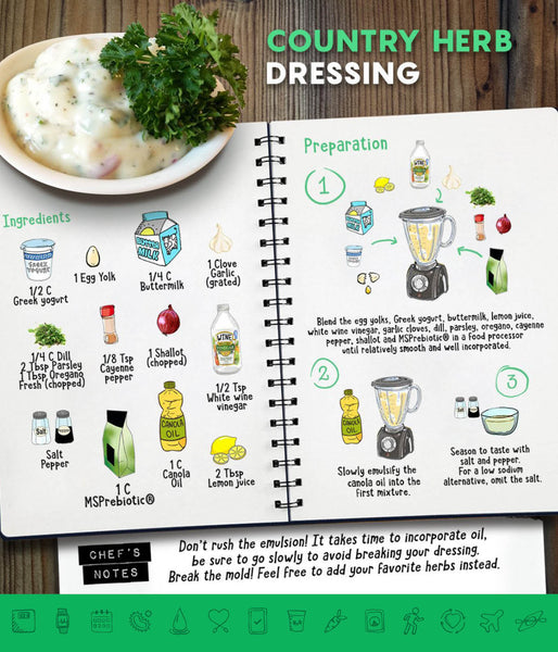 MSPrebiotic® Country Herb Dressing with Dill, Parsley, and Oregano