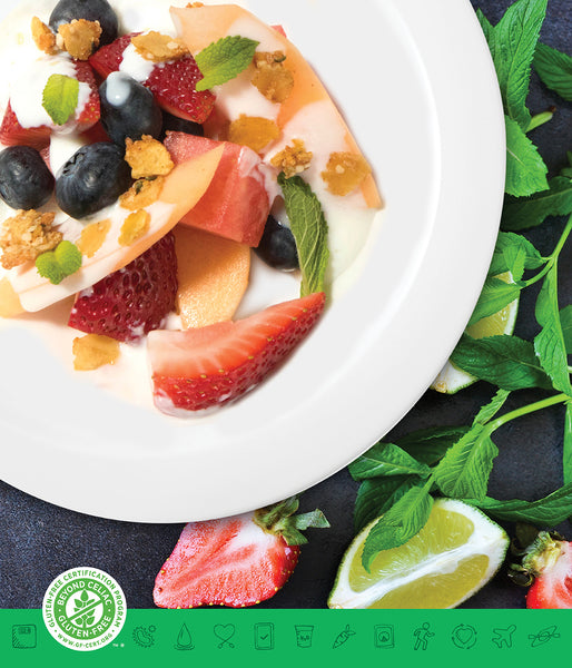MSPrebiotic® Fruit Salad Breakfast Bowl with Mint Lime Kefir