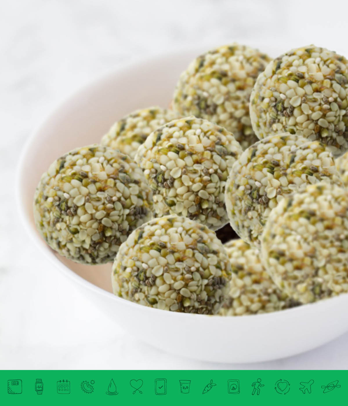 MSPrebiotic® Hemp Seed Powerballs