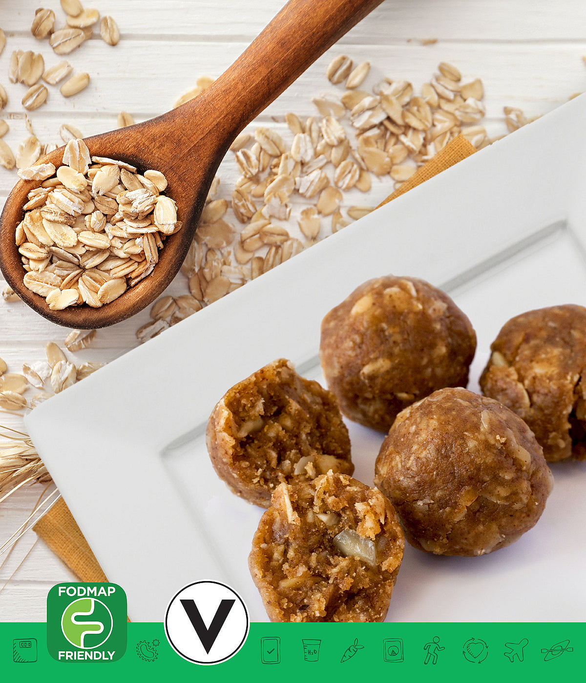 MSPrebiotic® Oat & Almond Butter Powerball