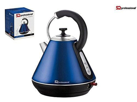 1.8L Litre Cordless Electric Kettle Fast Boil Jug Washable Filter 2200W ( Sapphire Blue )