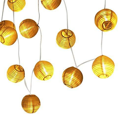 105 Ft 20 Led Paper Lanterns String Lights Battery Operated