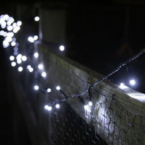 100 White Led Solar Powered Garden Fairy Lights By Lights4Fun