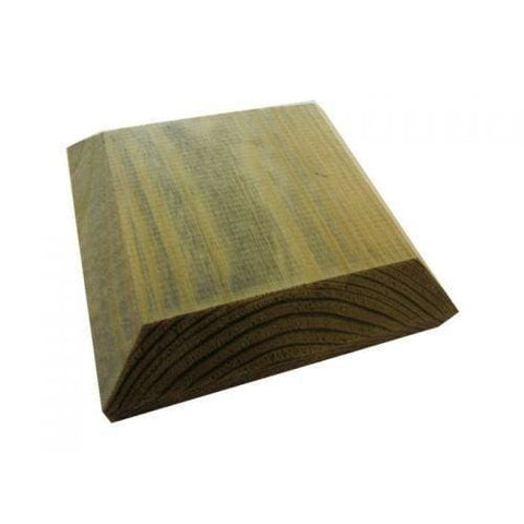 100Mm Square Green Treated Wood Decking Fence Post Cap For 3 (75Mm) Posts