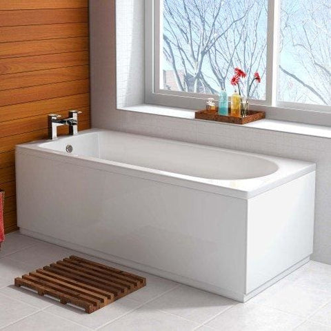 1500 X 700 Small Designer Round Single Ended Bath Straight Bathroom Bathtub