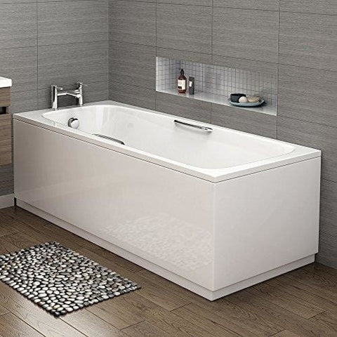 1600 Mm Round Single Ended Bath Modern Straight White Bathtub With Handles