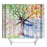 3D Shower Curtain Famibay Bathroom Shower Curtain Mould Proof Resistant Washable 3D Polyester Bath Curtian For Shower 180X180Cm