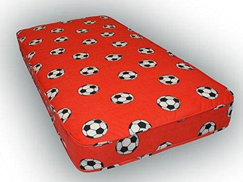 3Ft Single Budget Mattress Red Football Material 90Cm X 190Cm 3Ft X 6Ft3 Fast Delivery