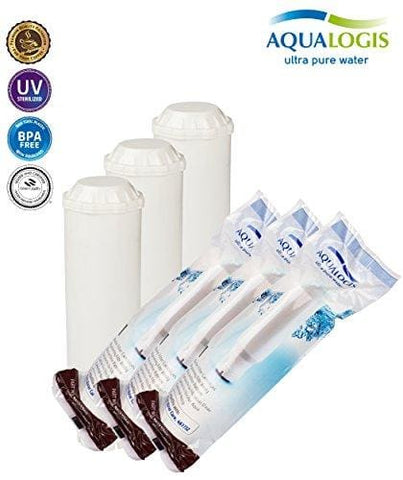 3X Water Filter Aqualogis Comparable With Krups Artese F088 Claris Bean To Cup Coffee Machine