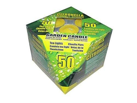 50 Citronella Garden Tea Light Candles