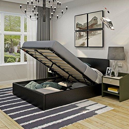 5ft King Size Gas Lift Up Ottoman Storage Bed Frame Bedstead With