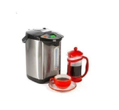 5L Electric Thermo Pot Hot Water Boiler Dispenser / Kettle / Urn - Black/silver By Turnkey
