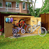 6X3 Overlap Wooden Pent Bike Log Tool Storage Double Door Roof Felt Store Shed 6Ft X 3Ft