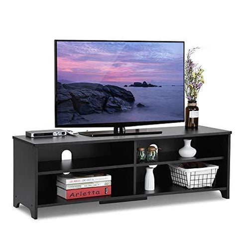 Add One +1 Wood Tv Stand Storage Console Black