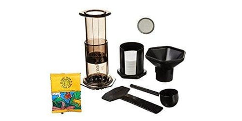 Aeropress Coffee And Espresso Maker With Bonus Steel Filter And Planet Java Restaurant Filter Coffee