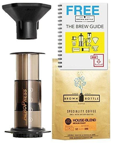 Aeropress Coffee Maker - Coffee Gift Set For Coffee Lovers | Free Pdf Brewing Guide + Tasty Coffee
