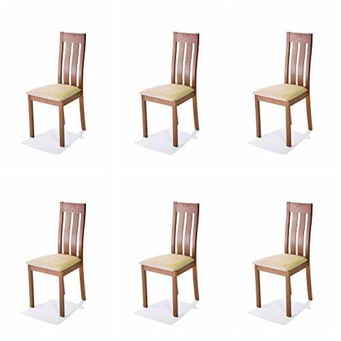 Ahoc Dining Chair 2/4/6 Solid Wood Walnut Oak Leather Fabric Seat - Made In Malaysia (6 Chita)