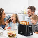 Aigostar Warrior 30Khk - 2-Slice Toaster 750W 7 Toast Shade Settings Defrost Reheat And Cancel Functions Auto Shut-Off Black Bpa Free.