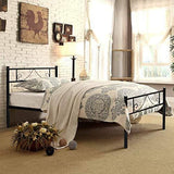 Aingoo Single Metal Bed Frame 3Ft Beds With Strong Headboard And Footboard For Kids Adults Guest Black