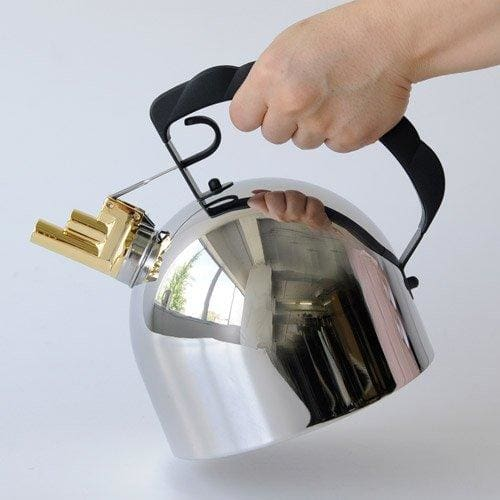 Silver Alessi Officina Hob Kettle with Steel Bottom