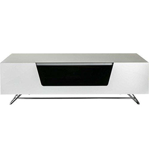 Alphason Chromium 2 1000 White - Tv Cabinet Fits Up To 50Inch Tvs