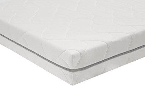 Amazonbasics Extra Comfort 7 Zone Pu Foam Mattress With Hypoallergenic  Cover Single