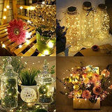 Amir Solar Powered String Lights 100 Led Starry Fairy Lights 10 Meters Waterproof 1.2 V Portable With Light Sensor For Patio Garden Home