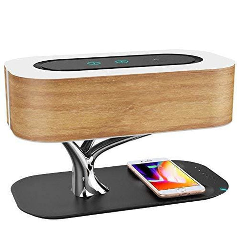 Ampulla Bedside Lamp With Bluetooth Speaker And Wireless Charger Sleep Mode Stepless Dimming