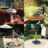 Ankway Solar Fountain Pump 1.4W Circle Garden Solar Water Pump Solar Powered Water Pump Floating Fountain Pump For Birdbaths Or Ponds