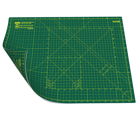 Ansio A2 Double Sided Self Healing 5 Layers Cutting Mat Imperial/metric 22.5 Inch X 17 Inch/(59Cm X 44Cm) - Green/green