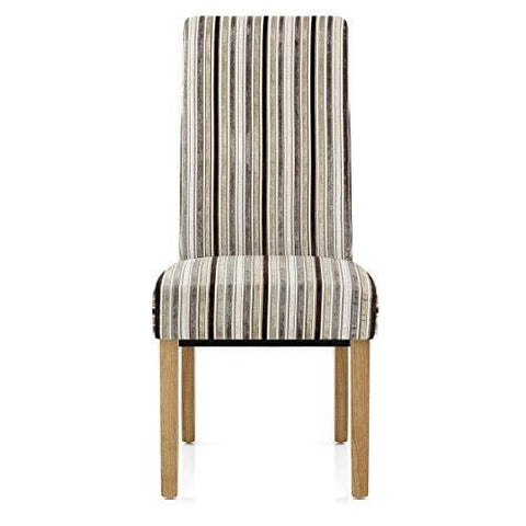 Atlantic Shopping Roma Dining Chair Oak & Stripe