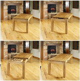 Baumhaus Mobel Extending Oak Dining Table (Seats 4-8)