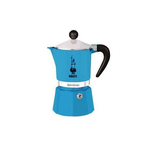 Bialetti Rainbow Espresso Maker For 3 Cups Blue