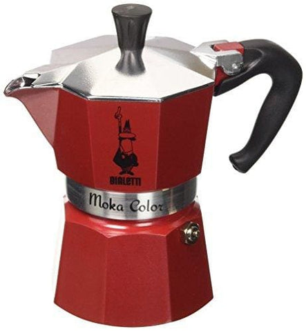 Bialetti Red Cafetiere Cups 3 Aluminium Red